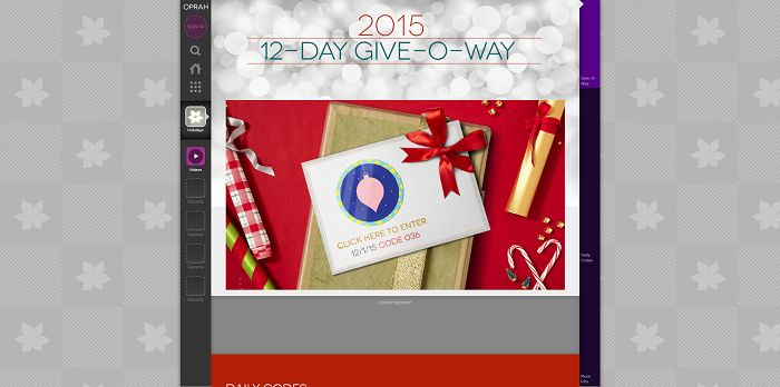 O's 12-Day Give-O-Way Sweepstakes