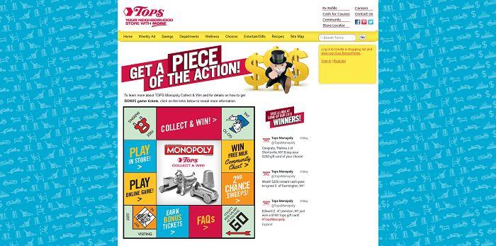 TopsMarkets.com/Monopoly - TOPS Markets Monopoly 2015