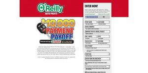 O'Reilly Payment Payoff Sweepstakes