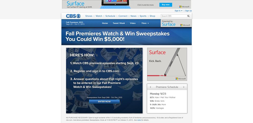 #2999-CBS Fall Premieres 2013 Sweepstakes - CBS_com-www_cbs_com_shows_fall-premieres-2013_sweepstakes