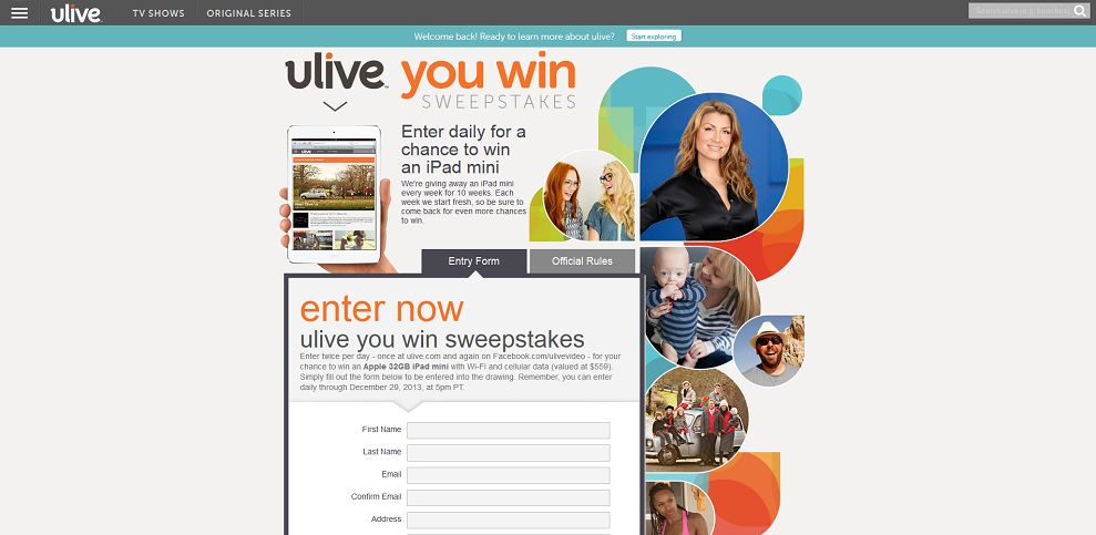 #3298-ulive you win sweepstakes I ulive-www_ulive_com_sweepstakes