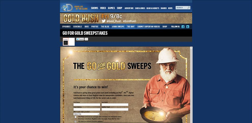 #3427-Enter the Go-For-Gold-Sweepstakes part of Discovery's series Gold Rush Season 4 airing Fridays at 9_8c_ _ Discovery Channel-dsc_discovery_com_tv-shows_gold-rush_games-and-more_go-for-gold-sweepstake