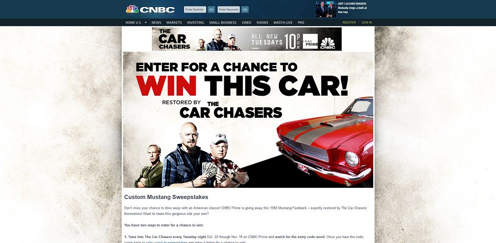#3492-Custom Mustang Sweepstakes - The Car Chasers-www_cnbc_com_car-sweepstakes