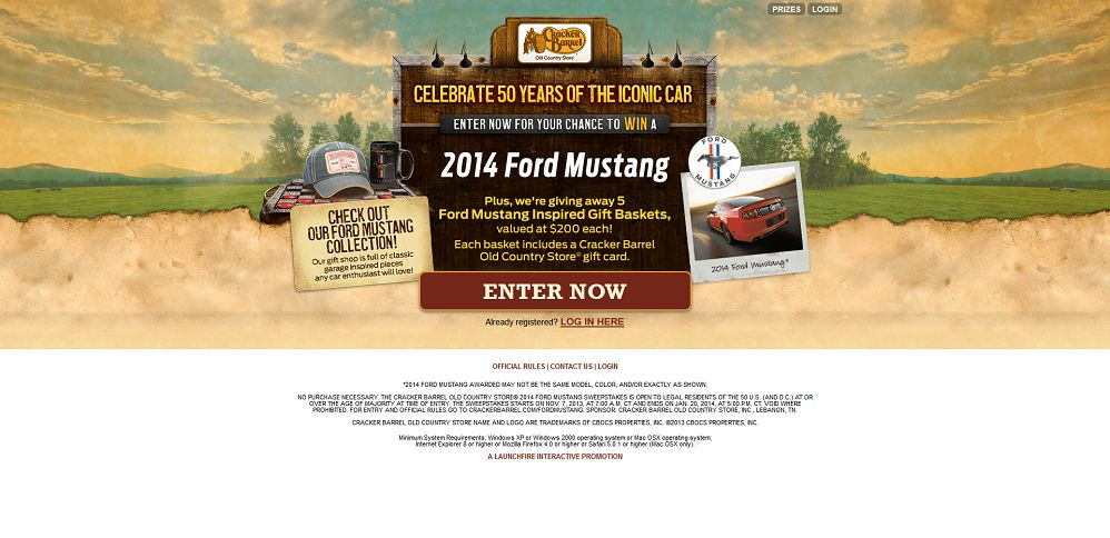 #3636-Cracker Barrel - 50 YEARS OF GEARS SWEEPSTAKES-www_crackerbarrelsweeps_com