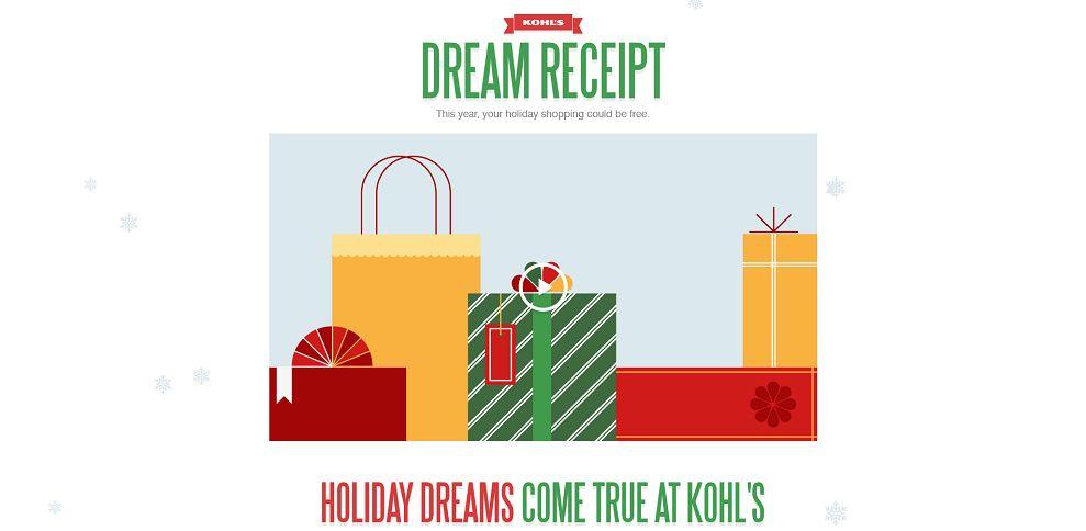 #3683-Kohl's Dream Receipts-kohlsdreamreceipts_com