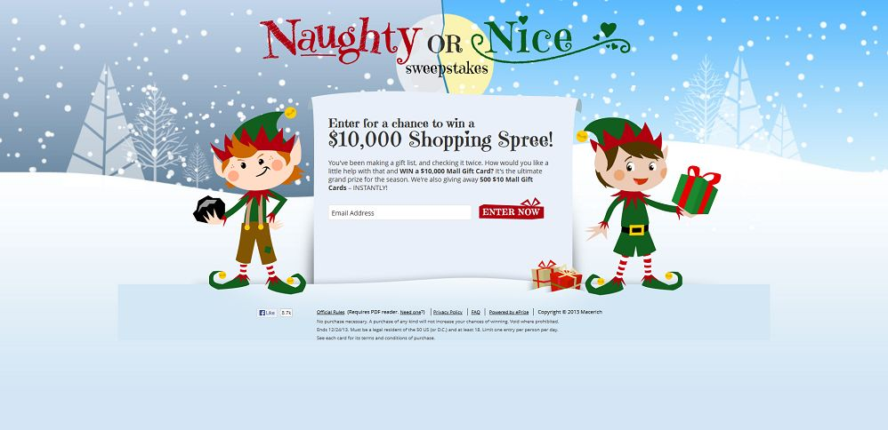 #3833-The Naughty or Nice Sweepstakes-macerich_promo_eprize_com_holiday2013