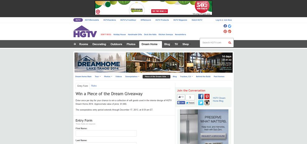 #3879-HGTV Dream Home 2014 Home Furnishings Vote and Sweepstakes-www_hgtv_com_dream-home-2014-piece-of-the-dream-enter_package_index_html