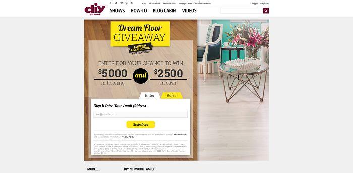 DIYNetwork.com/DreamFloor - Lumber Liquidators Dream Floor Giveaway