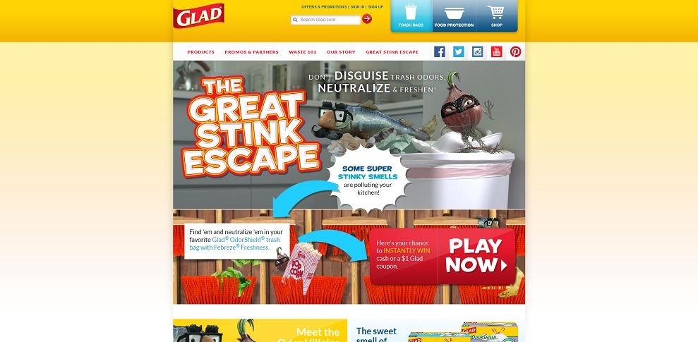 #4247-Glad® I Food Storage Containers & Trash Bags-www_glad_com_great-stink-escape