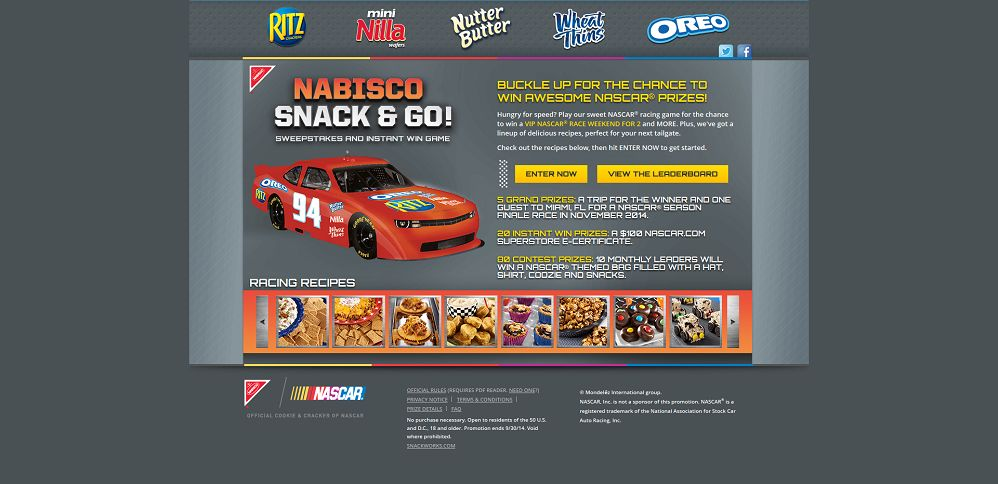 #4649-Nabisco Snack & Go! NASCAR® Sweepstakes and Instant Win Game-mondelez_promo_eprize_com_nascar