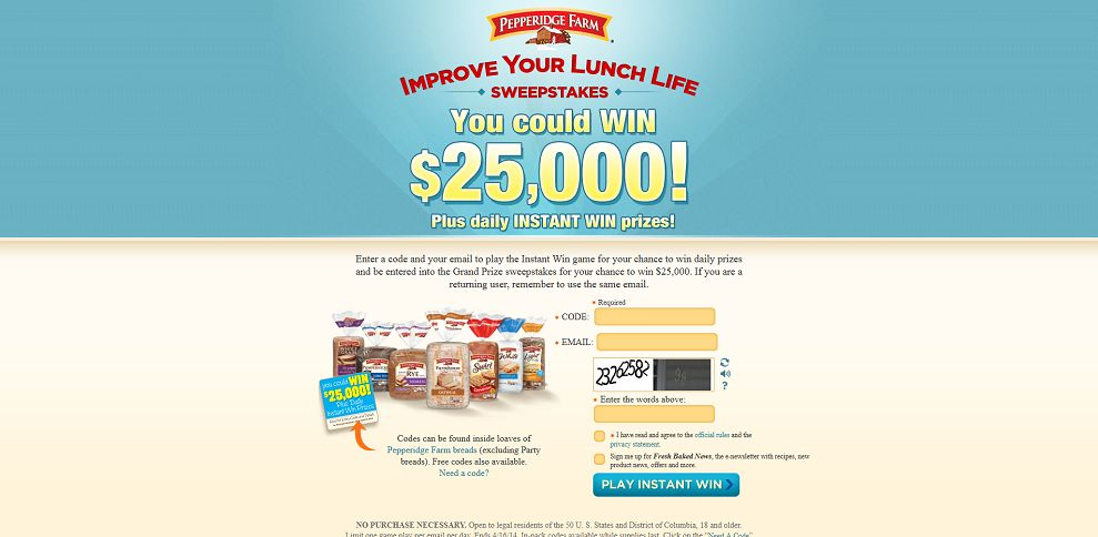 #5034-Pepperidge Farm - Improve Your Lunch Life Sweepstakes-improveyourlunchlife_com