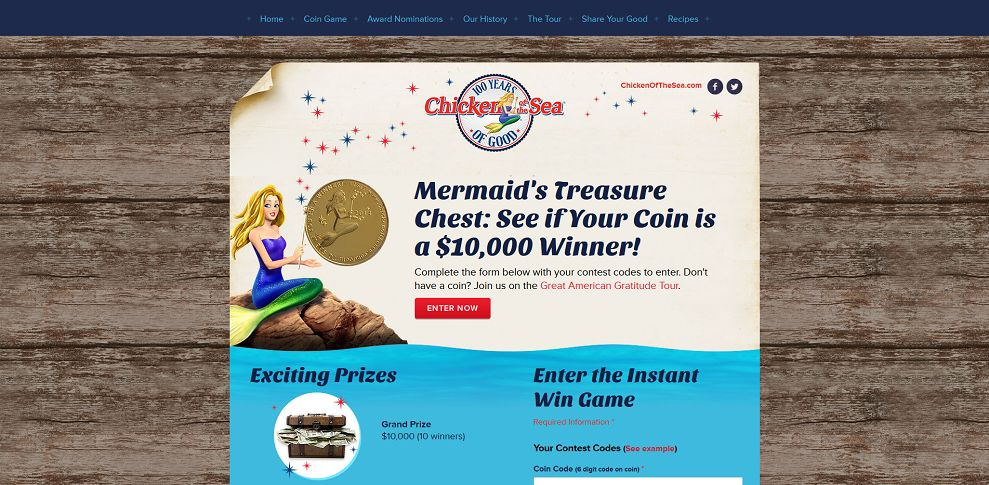 #5117-Chicken of the Sea Mermaid's Treasure Chest Instant Win-mermaidtreasurechest_com
