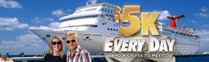 Wheel Watchers Club SPIN ID $5K Every Day Cash Giveaway