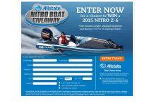 Allstate Nitro Boat Giveaway