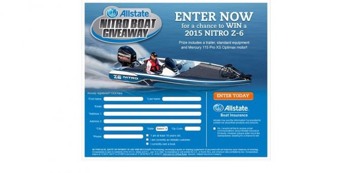 Allstate Nitro Boat Giveaway