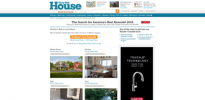 ThisOldHouse.com/yourTOH - This Old House Search for America's Best Remodel 2016 Contest