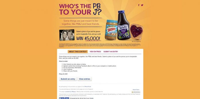 Welch's and SKIPPY Brand Best Friends $5,000 Sweepstakes