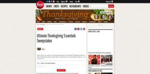 Food Network Ultimate Thanksgiving Essentials Sweepstakes