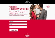 Simon Malls 10,000 Holiday Wishes Sweepstakes And Instant Win
