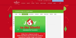 Hallmark Channel's Joy To The World Sweepstakes