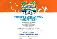 Popeyes Bahamas Bowl Sweepstakes