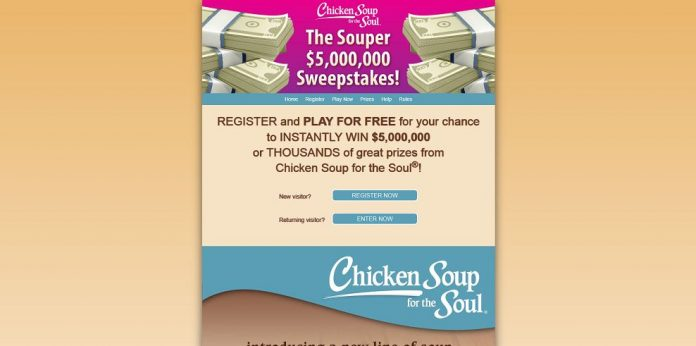 Souper $5,000,000 Sweepstakes (chickensoup.com/instantwin)