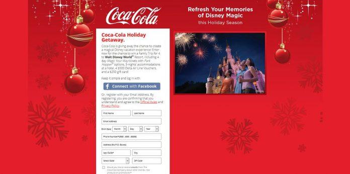 Coca-Cola Holiday Getaway Sweepstakes (cokeholidaygetaway.com)