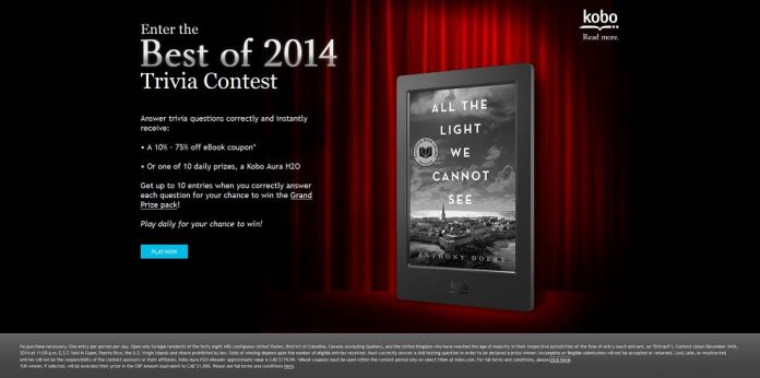 Kobo's Best of 2014 Trivia Contest