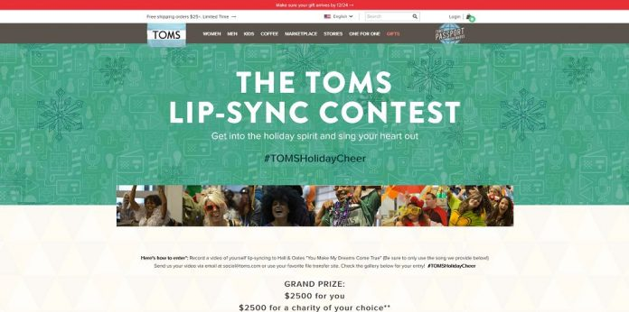 TOMS Shoes #TOMSHolidayCheer Contest