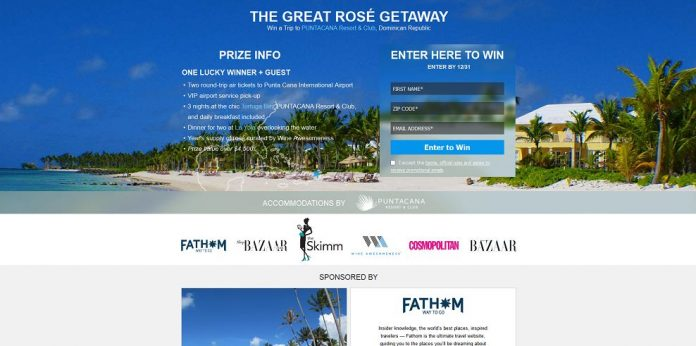 Great Rosé Getaway Sweepstakes