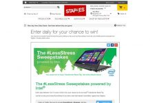 Staples #LessStress Sweepstakes