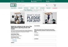 Dick's Sporting Goods New Year's Pledge Sweepstakes