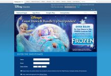 Disney's Count-Down And Bundle Up Sweepstakes
