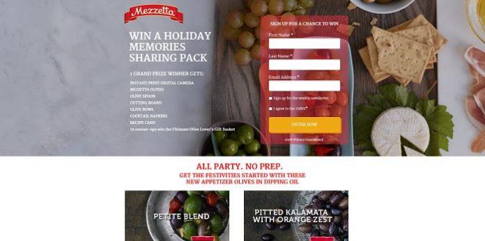 Mezzetta Holiday Sweepstakes