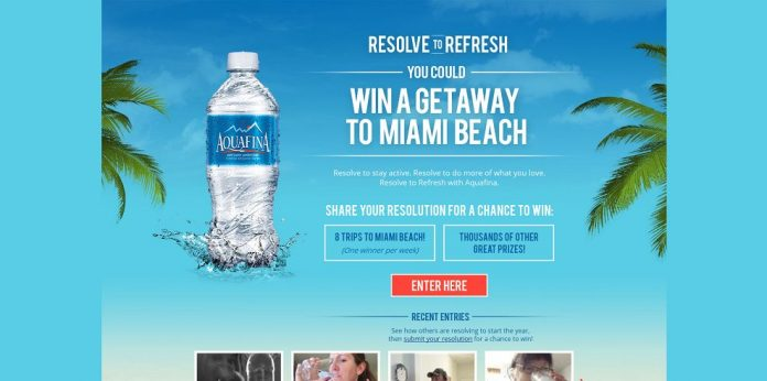 Aquafina Resolve to Refresh Sweepstakes (resolvetorefresh.com)