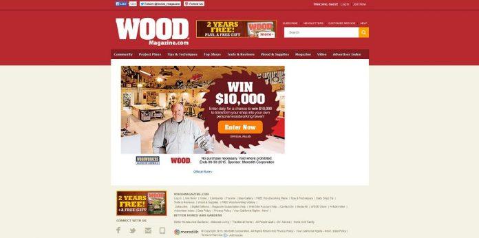 Wood Magazine Over-the-Top Shop Sweepstakes (Woodmagazine.com/10kshop)