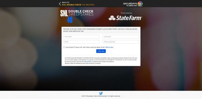 SNL Double Check Sweepstakes (snldoublechecksweeps.com)