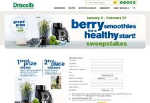 Driscoll's Berry Smoothies For A Healthy Start Sweepstakes