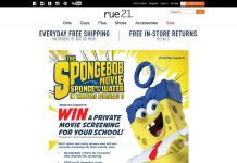 rue21 Sponge Bob Private Screening Sweepstakes - rue21.com/SpongeBob