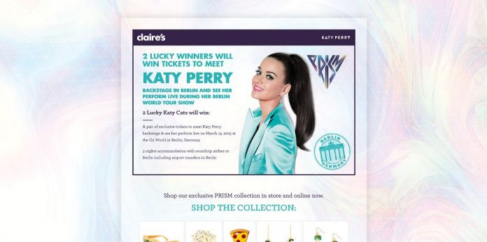 Claire's Meet Katy Perry in Berlin Sweepstakes at ClairesAndKatyPerry.com