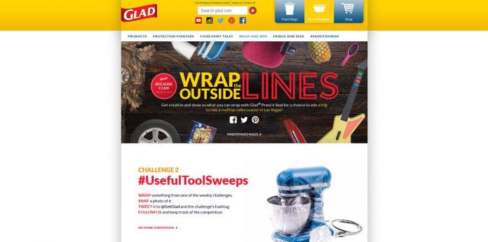 Glad Press'n Seal Wrap Outside The Lines Sweepstakes