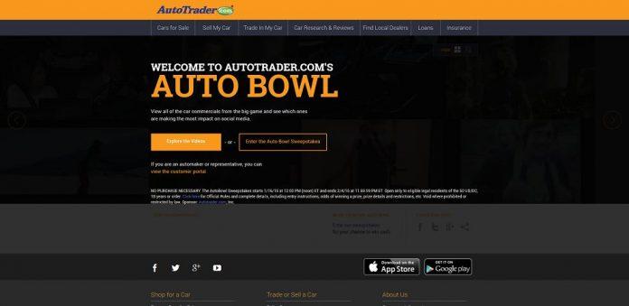 AutoTrader.com's AutoBowl Sweepstakes