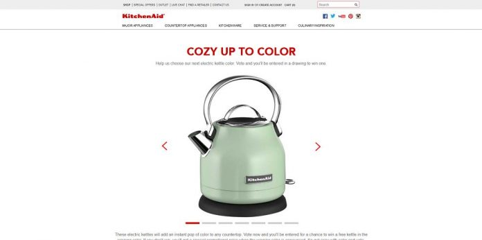 KitchenAid Get Cozy With Color Sweepstakes