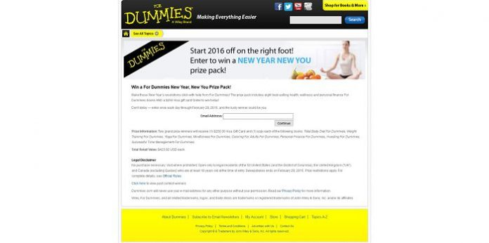 For Dummies New Year, New You Sweepstakes