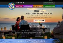 Wheel of Fortune 2nd Honeymoon Sweepstakes