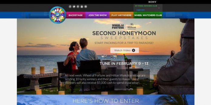 Wheel of Fortune 2nd Honeymoon Sweepstakes