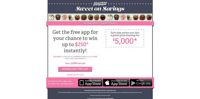 RetailMeNot Sweet on Savings Sweepstakes