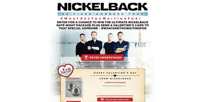 Nickelback Valentine's Day Giveaway