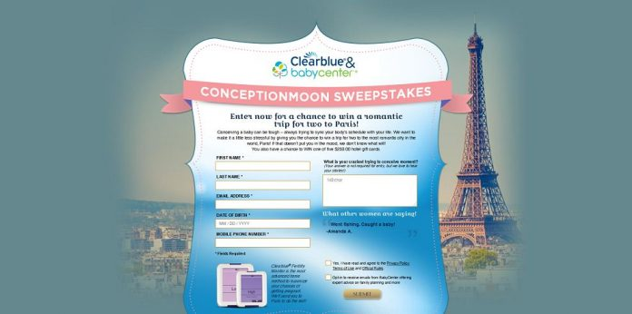 ClearBlue and BabyCenter ConceptionMoon Sweepstakes