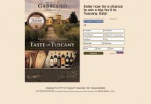 Taste of Tuscany Sweepstakes